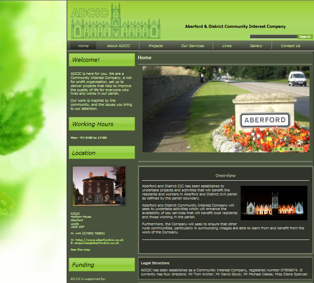 aberfordcicwebsite  Web Design aberfordcicwebsite